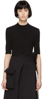 Rosetta Getty Black Cropped T-Shirt