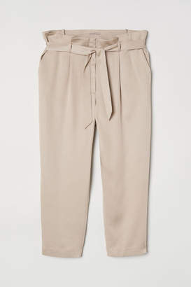 H&M H&M+ Paper-bag Pants - Beige