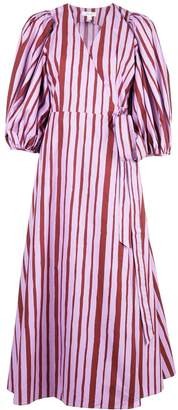 Beaufille striped wrap-style dress