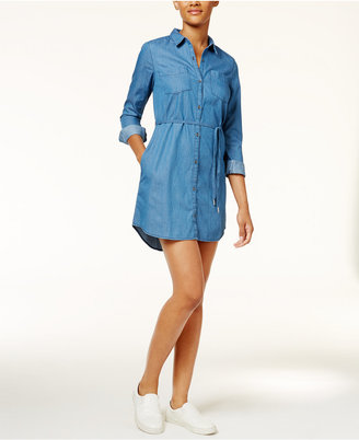 Calvin Klein Jeans Denim Belted Shirt Dress $89.50 thestylecure.com