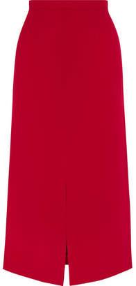 Tome Crepe Midi Skirt - Red