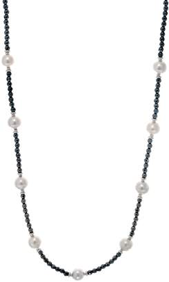"""Honora Ming Pearl & Gemstone 36"""" Necklace Sterling"""