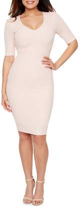 PREMIER AMOUR Premier Amour Short Sleeve Bodycon Dress