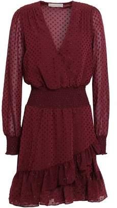 MICHAEL Michael Kors Wrap-Effect Metallic Fil Coupé Mini Dress