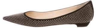 Jimmy Choo Studded Pointed-Toe Flats