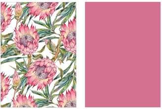Ambrosia Flora Tea Towel Set of 2 Pink