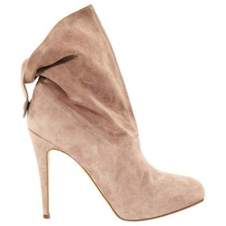 Brian Atwood Pink Suede Ankle boots