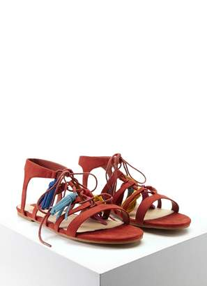 Forever 21 Faux Suede Tasseled Sandals