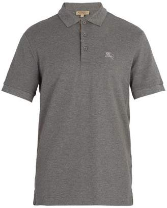 Burberry Oxford Cotton Pique Polo Shirt - Mens - Grey