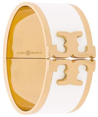 Tory Burch enamelled raised-logo wide bracelet