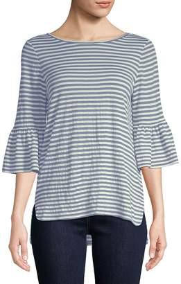 Max Studio Women's Flare-Sleeve Striped Top