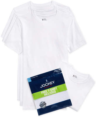 jockey men's tagless classic collection crew-neck Undershirt 3-pack +1 bonus $29.50 thestylecure.com