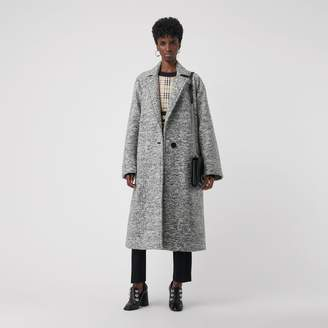 Burberry Laminated Cashmere Wool Blend Oversized Coat