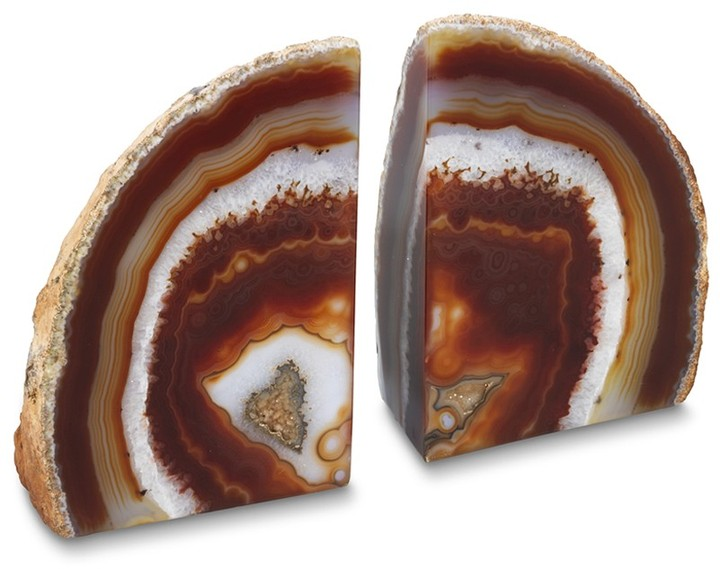 Williams-Sonoma Agate Bookends, Set of 2