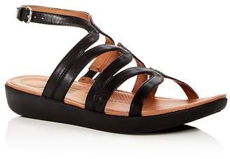 FitFlop Women's Strata Leather Gladiator Platform Sandals