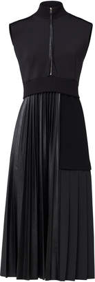 Schumacher Dorothee Modern Gloss Neoprene-Paneled Faux Leather Dress S