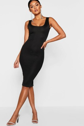 boohoo Longline Square Neck Midi Dress