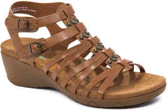 Women's Hydee Wedge Sandal -Dark Brown $69 thestylecure.com