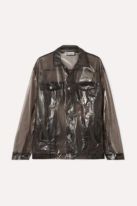 RED Valentino Glossed-pu Jacket - Black