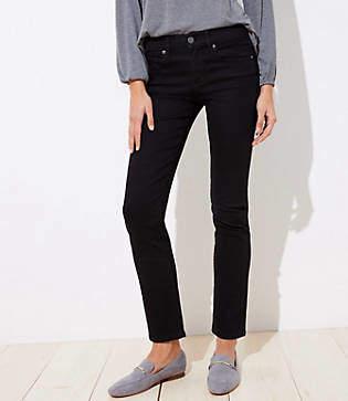 LOFT Petite Curvy Straight Leg Jeans in Black