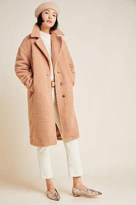 AVEC LES FILLES Macie Sherpa Cocoon Coat