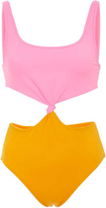Bailey Knotted Color-Block One Piece