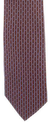 Hermes Silk H Logo Print Tie
