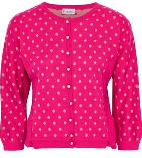 RED Valentino Jacquard Wool Silk And Cashmere-Blend Cardigan