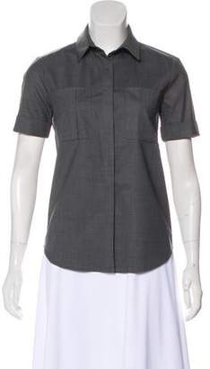 Reed Krakoff Short Sleeve Button-Up Top