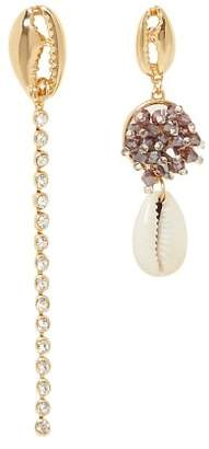 MANGO Asymmetric shell earrings