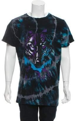 Amiri Tie-Dye Wolf Print T-Shirt w/ Tags