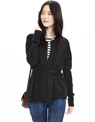 Todd & Duncan Belted Cashmere Open Cardigan $268 thestylecure.com