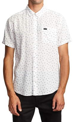 RVCA Prelude Floral Print Short Sleeve Button-Down Shirt