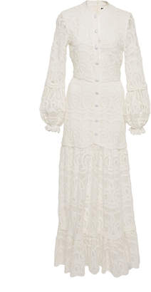 Alexis Eudora Cotton Lace Maxi Dress Size: S