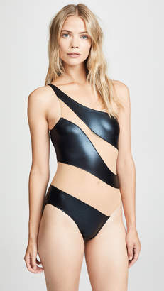 Norma Kamali Snake Mesh Mio One Piece Swimsuit
