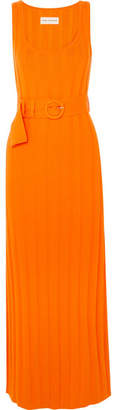 Mara Hoffman Harlow Belted Ribbed Organic Cotton Maxi Dress - Orange