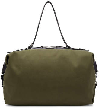 Saint Laurent Khaki Large Canvas ID Convertible Bag