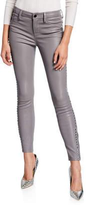 Nour Hammour Side-Studded Leather Leggings