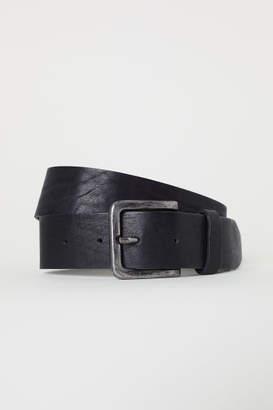 H&M Wide Leather Belt - Black