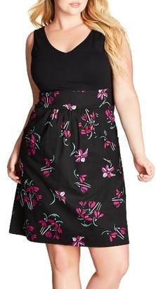 Plus Size Women's City Chic Floral Fit & Flare Dress $89 thestylecure.com