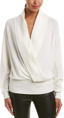 Reiss Blanche Wool-Blend Wrap Sweater