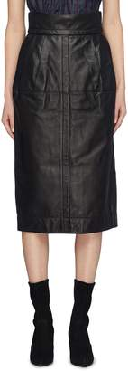 Marc Jacobs Pleated lambskin leather skirt