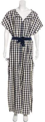 Solid & Striped Gingham Maxi Dress