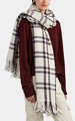 Denis Colomb Women's Nara Plaid Cashmere Flannel Blanket Scarf