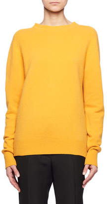 Victoria Beckham Crewneck Long-Sleeve Cashmere Sweater