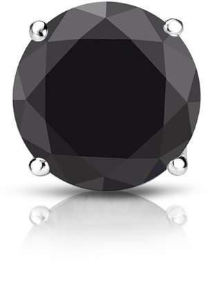 Black Diamond Diamond Wish 18k White Gold 4-Prong Basket Round SINGLE STUD Earring (3/4 cttw)