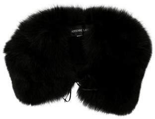 Adrienne Landau Black Fur Shawl