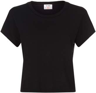 RE/DONE AUTOREP RD HANES 1950 BOXY TEE BLK