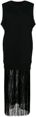 MM6 MAISON MARGIELA fringed sweat tank dress
