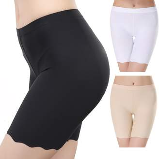 6d3e49d2aff6cf MMissy Womens Under Skirt Leggings Soft Stretch Falbala Leather Pans Short  Leggings Fitness Shorts